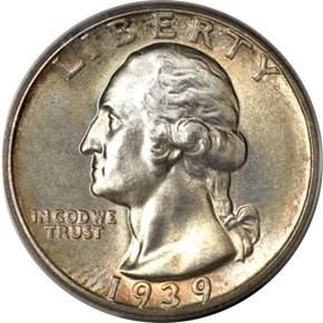 1939 25C MS obverse