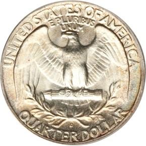 1940 D 25C MS reverse
