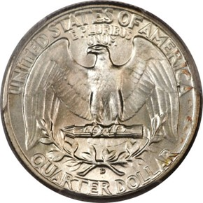 1943 D 25C MS reverse