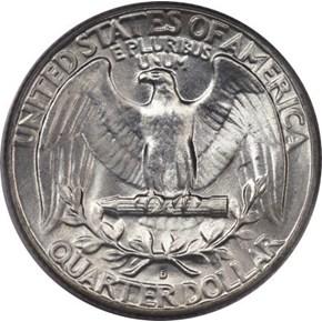 1948 D 25C MS reverse