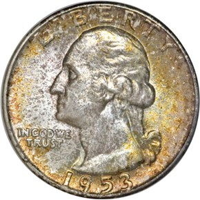 1953 25C MS obverse