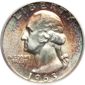 1963 25C MS obverse