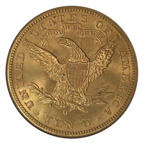 1897 O $10 MS reverse
