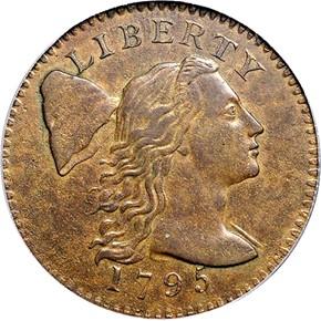 1795 PLAIN EDGE 1C MS obverse