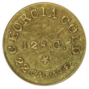 (1837-42) C.BECHTLER 128G, 22C, NO COLON $5 MS obverse