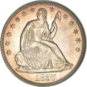 1857 O 50C MS obverse