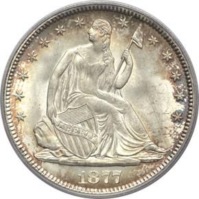 1877 50C MS obverse