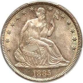 1885 50C MS obverse
