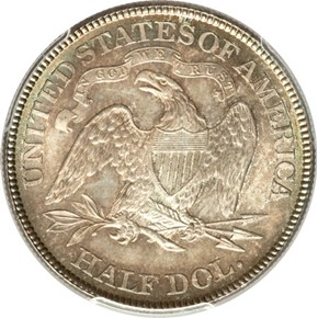 1885 50C MS reverse