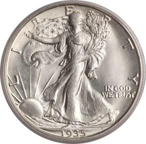 1935 D 50C MS obverse