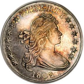 1802 BB-302,B-8 S$1 PF obverse