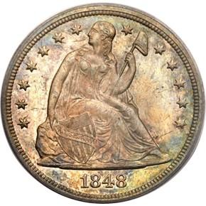 1848 S$1 MS obverse