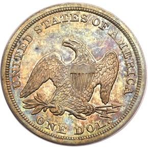 1848 S$1 MS reverse