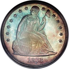 1873 S$1 MS obverse