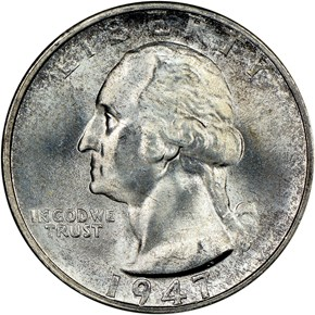 1947 S 25C MS obverse
