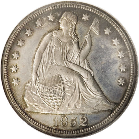 1852 Original S 1 Pf Seated Liberty Dollars Ngc