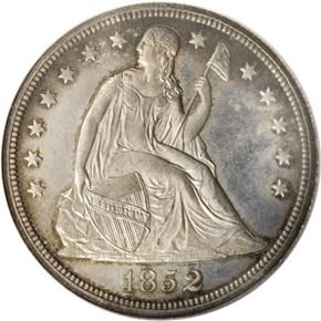 1852 ORIGINAL S$1 PF obverse