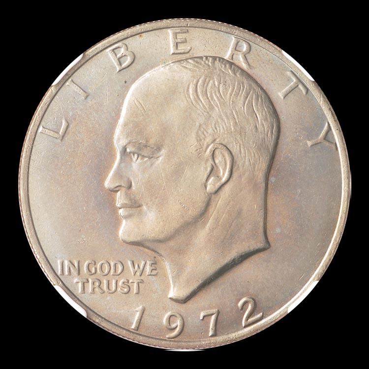 1972 Type 3 Eisenhower Dollar $1 PCGS MS 64