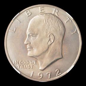 1972 $1 MS obverse