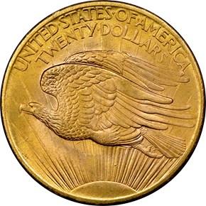 1908 NO MOTTO $20 MS reverse