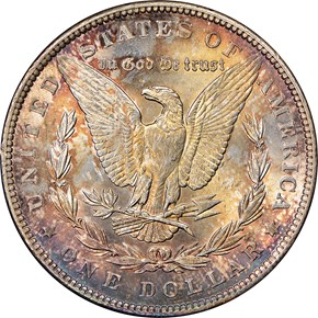 1890 S$1 MS reverse