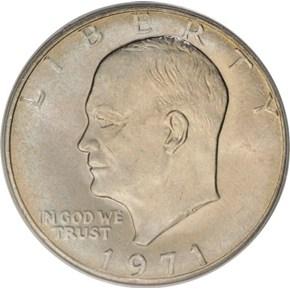 1971 $1 MS obverse