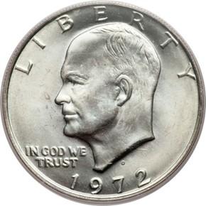 1972 D $1 MS obverse