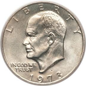 1973 D $1 MS obverse