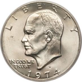 1974 D $1 MS obverse
