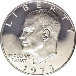 1973 S SILVER $1 PF obverse