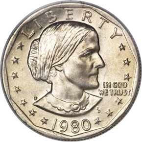 1980 P $1 MS obverse