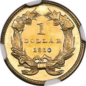 1860 G$1 PF reverse