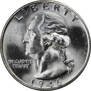 1946 S 25C MS obverse