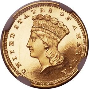 1859 G$1 PF obverse