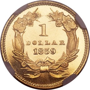 1859 G$1 PF reverse