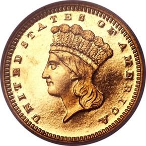 1870 G$1 PF obverse