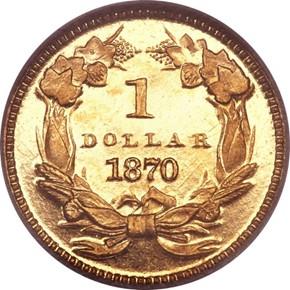 1870 G$1 PF reverse
