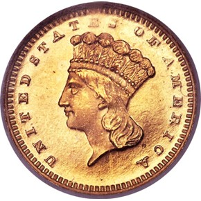 1873 CLOSED 3 G$1 PF obverse