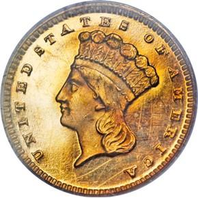 1874 G$1 PF obverse