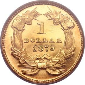 1879 G$1 PF reverse