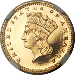 1880 G$1 PF obverse