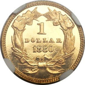 1880 G$1 PF reverse