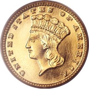 1884 G$1 PF obverse