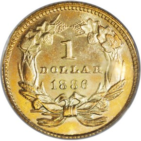 1886 G$1 PF reverse