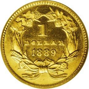 1889 G$1 PF reverse