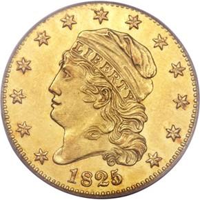 1825/4 PARTIAL 4 $5 MS obverse