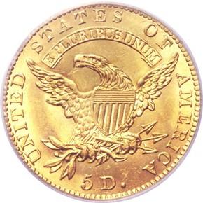 1828 $5 MS reverse