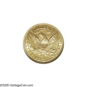 1873 S $5 MS reverse