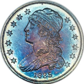1835 25C PF obverse
