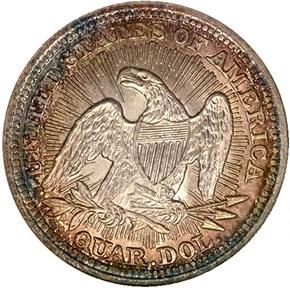 1853 ARROWS & RAYS 25C MS reverse